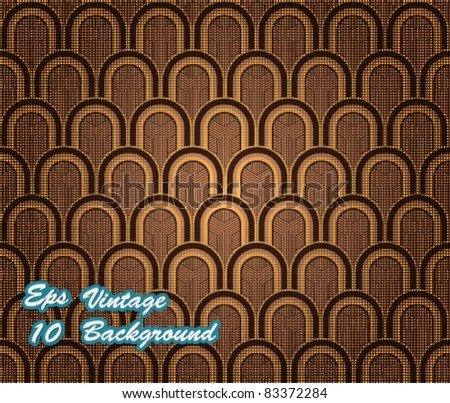 Eps10 Vector Abstract Vintage Seamless Design - stock vector