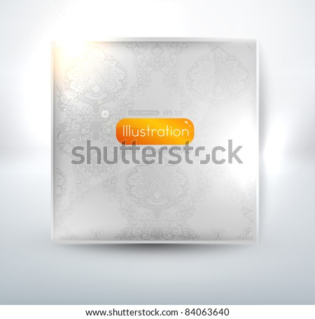 EPS10 vector abstract with seamless ornament - stock vector