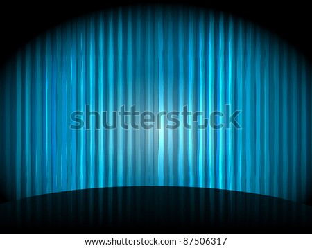 eps 10, vector  background with blue stripes - stock vector