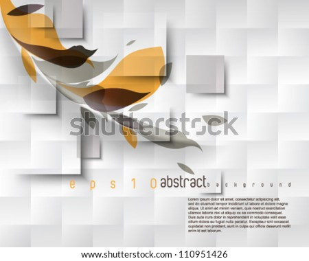 eps10 vector blocks and foliage background - stock vector