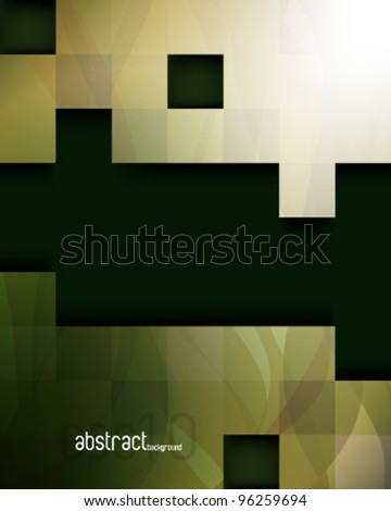 eps10 vector blocks with transparent wave elements background design - stock vector