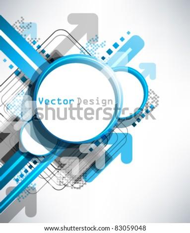 Eps10 Vector Blue Modern Frame Design - stock vector