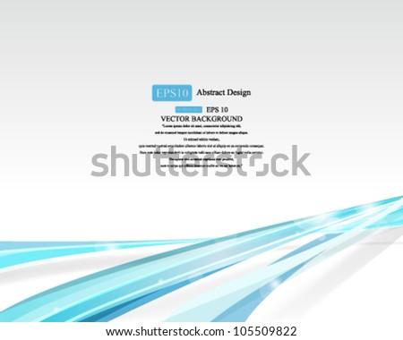 Eps10 Vector Blue Strip Background Design - stock vector