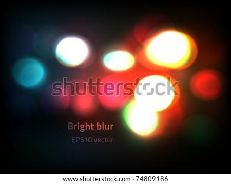 EPS10 vector bokeh lights - stock vector