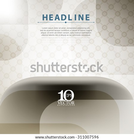 eps10 vector brown elegant invitation concept background design - stock vector