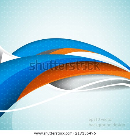 eps10 vector business wave elements blue and orange background - stock vector