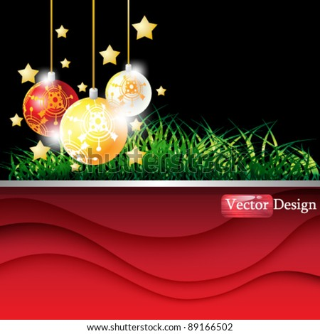 Eps10 Vector Christmas Background Design - stock vector