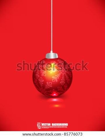 eps10 vector Christmas decoration background - stock vector