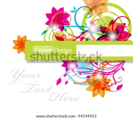 Eps10 Vector Colorful Abstract Foliage Design Background elegant, elegance, multicolor