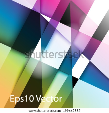 eps10 vector colorful background design - stock vector