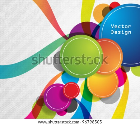 Eps10 Vector Colorful Circles Background Design - stock vector