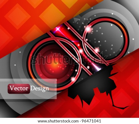 Eps10 Vector Colorful Futuristic Design with Cracked Background for your Business Success