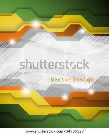 Eps10 Vector Colorful Modern Technology Design - stock vector