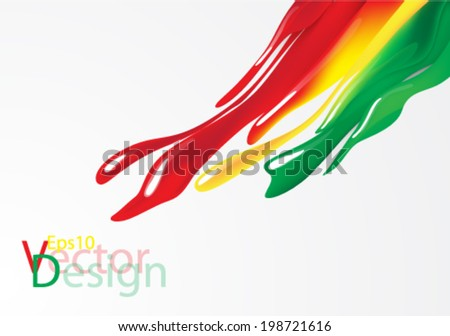 Eps10 Vector Colorful Paint Concept Design for your Business - stock vector