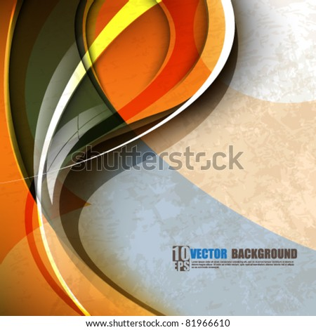 eps10 vector colorful wave abstract design - stock vector