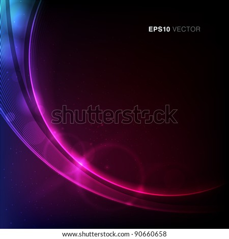 EPS10 Vector design with stars, rays and vibrant light - stock vector