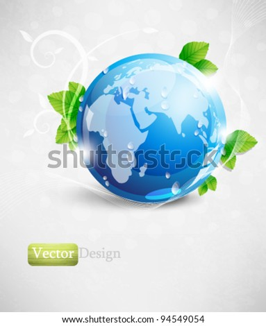 Eps10 Vector Earth and Nature Concept Design Background - stock vector