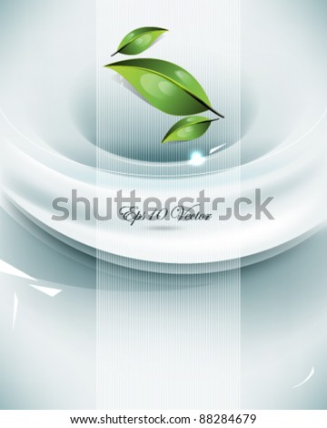 eps10 vector elegant background with leaf elements design - stock vector