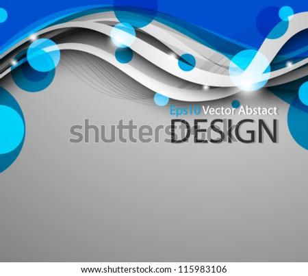 Eps10 Vector Elegant Business Background Concept Design - stock vector