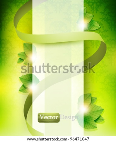 Eps10 Vector Elegant Eco Background Design for your Wonderful Business - stock vector