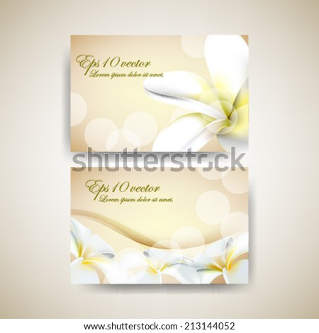 eps10 vector elegant flower business background - stock vector