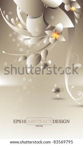 eps10 vector elegant foliage background illustration - stock vector
