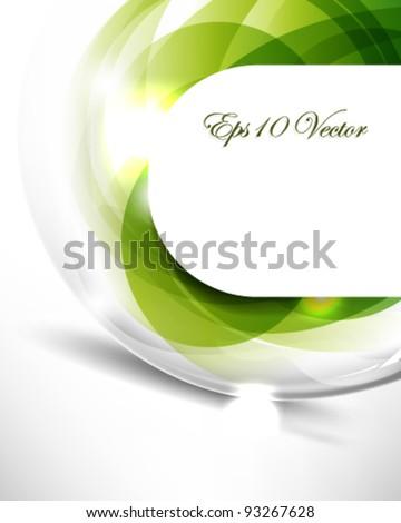 eps10 vector elegant frame in green background design - stock vector
