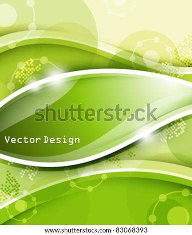 Eps10 Vector Elegant Green Business Design - stock vector