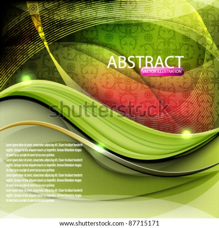 eps10 vector elegant seamless wave design background - stock vector