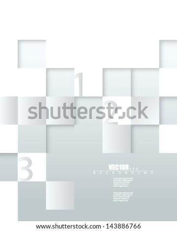 eps10 vector embossed metallic blocks infographic design - stock vector