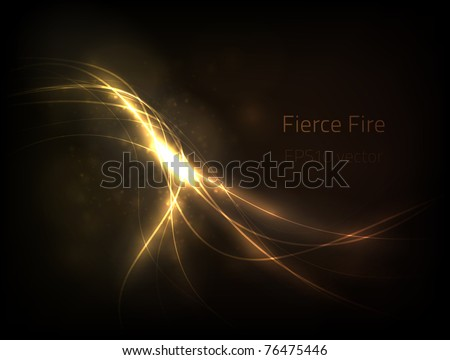EPS10 vector fierce fire - stock vector