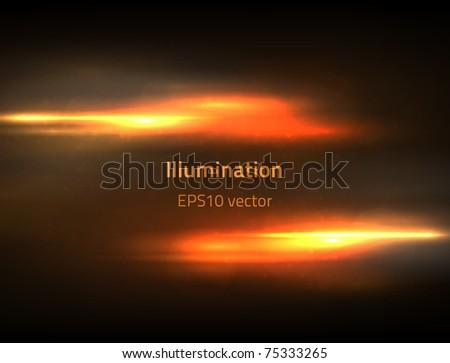 EPS10 vector fire illumination - stock vector