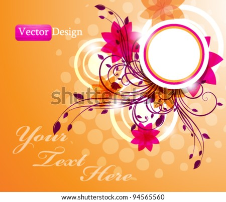 Eps10 Vector Floral Concept Background Design - stock vector