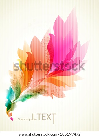 eps10 vector floral design . abstract background - stock vector