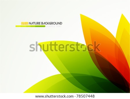 Eps10 vector flower abstract background - stock vector