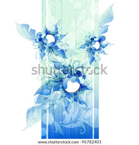 eps10 vector flower background - stock vector