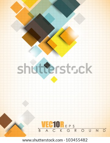 eps10 vector flowing squares design - stock vector
