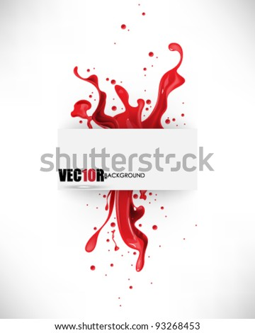eps10 vector frame and red ink elements design - stock vector