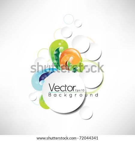 eps10 vector frame design multicolor design - stock vector