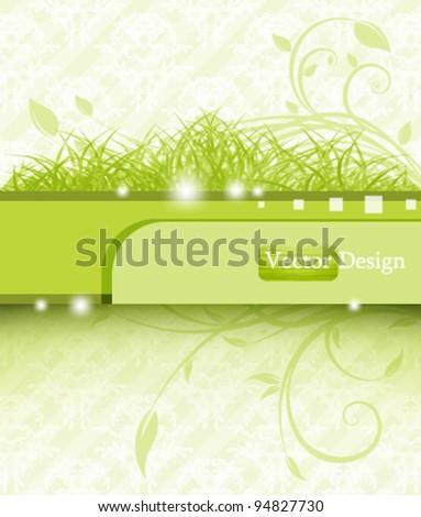 Eps10 Vector Fresh Nature Concept Background Design - stock vector