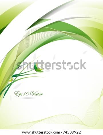 eps10 vector futuristic eco friendly background illustration - stock vector