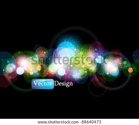 Eps10 Vector Glowing Background Design - stock vector