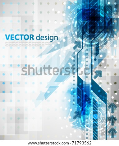 eps10 vector grunge futuristic background - stock vector