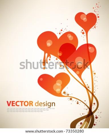 eps10 vector heart design - stock vector