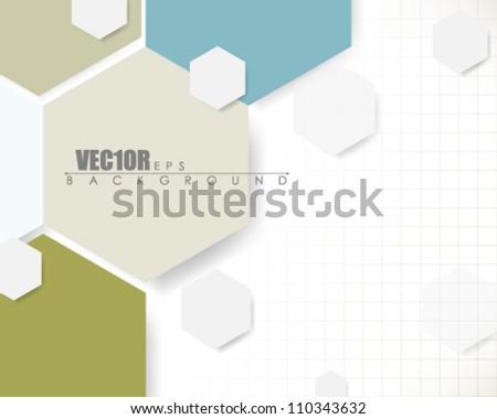 eps10 vector honeycomb pattern abstract deign - stock vector