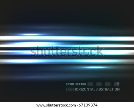 EPS10 vector horizontal abstraction design against dark background; composition is colored in shades of blue - stock vector