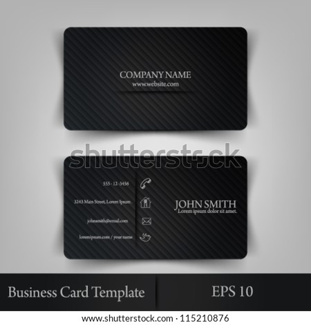eps10 vector illustration abstract elegant business card template - stock vector