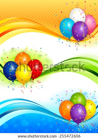 EPS 10 Vector illustration of balloons banners. Used opacity and blending mode. Objects are layered. - stock vector