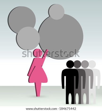 EPS 10 Vector Illustration of business woman shows a business concept - stock vector