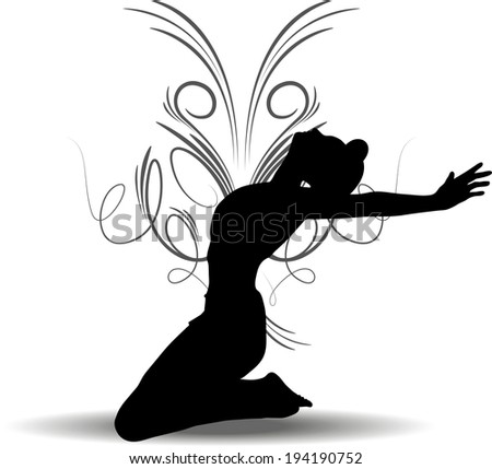 EPS 10 Vector illustration of Funky Girl Silhouette - stock vector